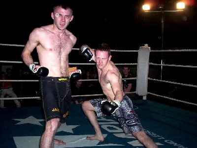 James Doolan and Paul McVeigh after their MMA demo